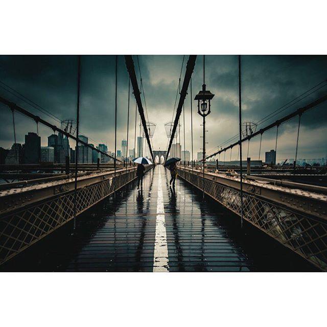 nyc brooklynbridge instadaily newyork resourcemag streetphotography vsco rain