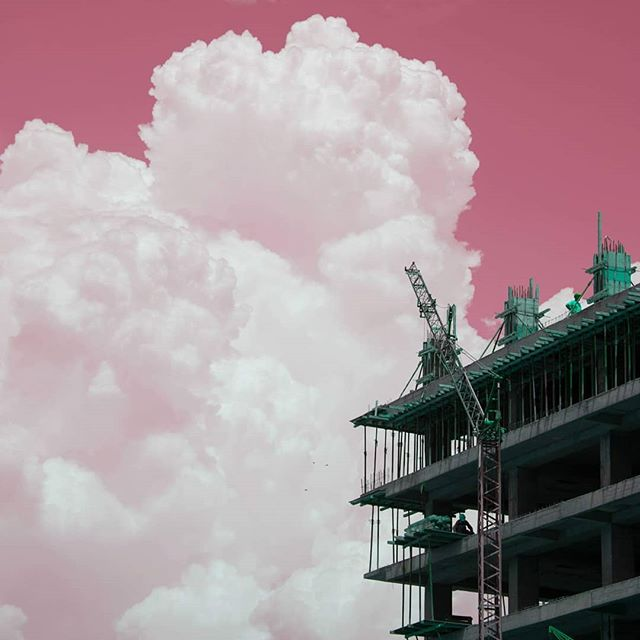 underconstruction instagood pinksky mediumformat skyline cloudywithachanceofmeatballs canonphotography design cloud city fisheyelemag_60k streetphotography ongoingproject building pink architecture pixsoulfeed photooftheday instalike flakphotorepost concrete