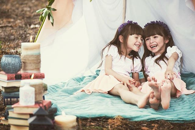 magic happiness twins lough eood books cute smily childhood girls
