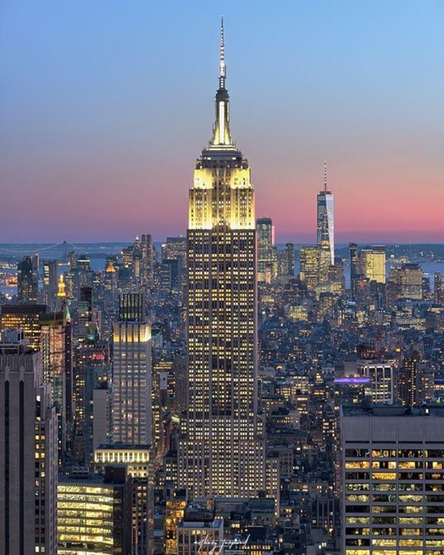 evening manhattan landscape building midtown town empirestatebuilding newyork