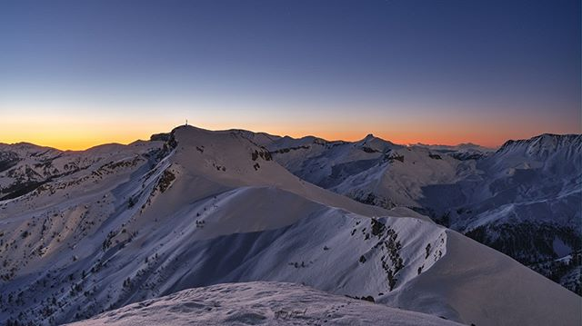 fujifilm xt3 snow mymercantour sunrise winter saintetiennedetinee auron