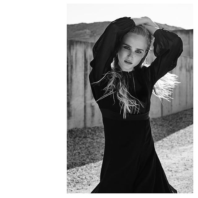 simplyblack lifeofaphotographer blackdress editorialphotography fashioneditorial blackandwhite iamsandramira karllagerfeld onlocation model