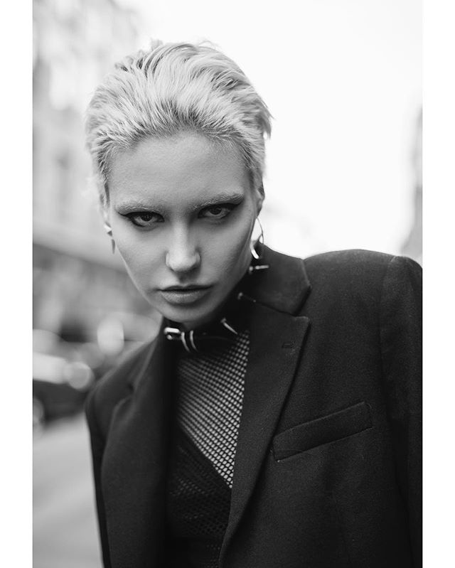 portrait london urban style blackandwhite fashion 50mm punk model editorial