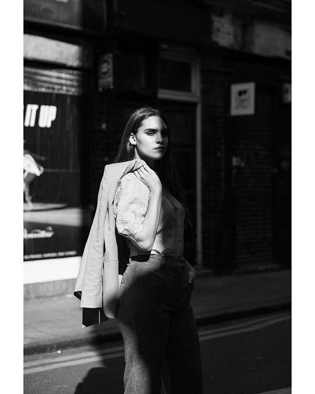 shadow urban street london fashion blackandwhite model 50mm bricklane