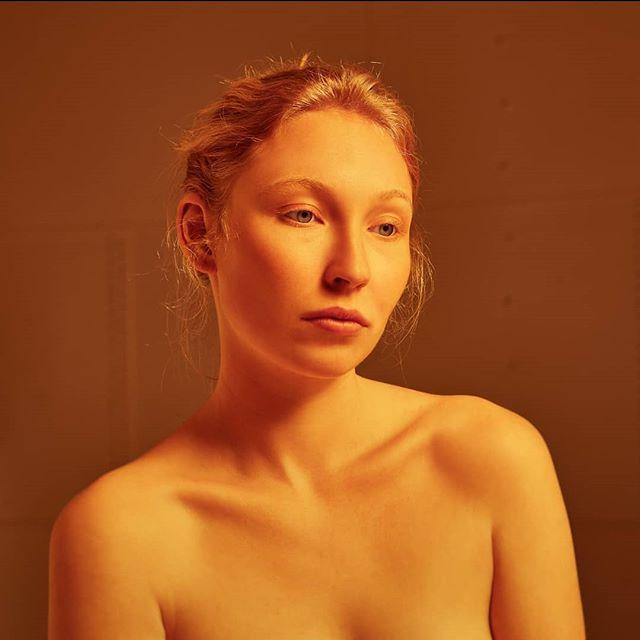 gingergirl eyes light photography orange girl colouredlight modeling art colarbones fineart nude