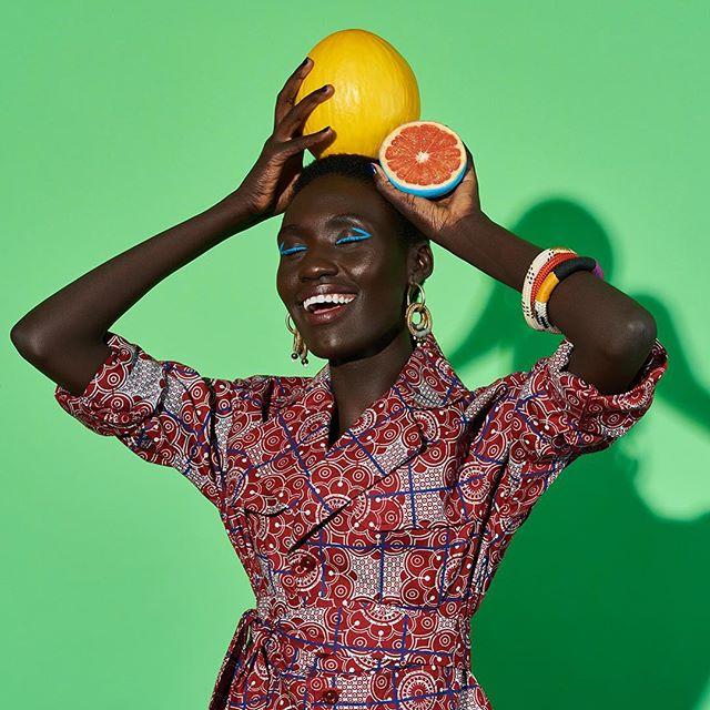 gennext2018 smile fashion happy fruits makeup broncolor broncolorgennext darkskin tropical womensfashion style patterns colour