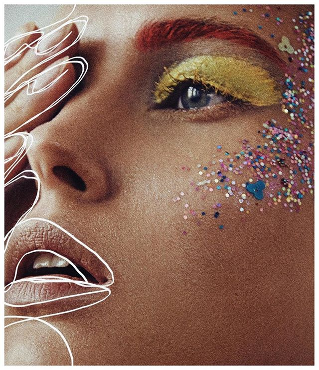 glitter beauty closeup fashioneditorial munich portrait muha fashionshoot makeup