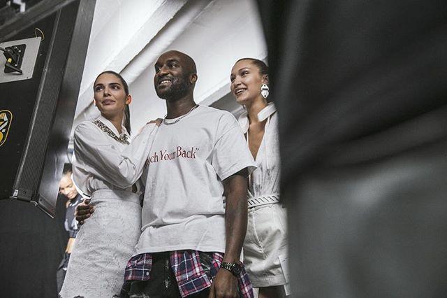 streetwear paris bellahadid photographer offwhite backstage pfw fashion kendalljenner press