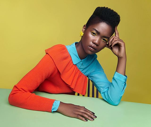 melanin colors stylist blackmodel fashionblogger fashionphotographer fashionphotography fashion profoto fashionphoto vogue potd elle fashionable beautyphotography inspo colemagazine afropunk makeup styling fierce yelloweyeshadow model africanmodel colorpop fashioneditorial darkskin blackgirlmagic