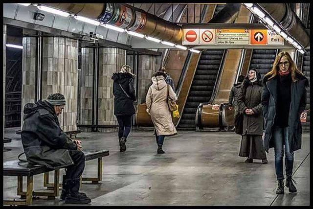 prague subway streetphotography myphotos metrostation praguemetro people mylife mywork photo_color photographyislife colors praha