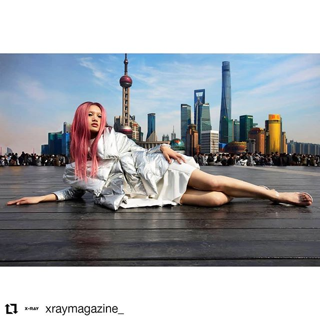 instagood balmain mainlandchina balmaindress thebund 2instagood sliver skyline canon5ds justgoshoot futuristic poser skyscraper pinkwigs ombrehair shanghai monolids mode concretejungle graphiceyeliner ruleofthirds modellife pufferjacket pinkhair asia disco legsfordays photographyislife